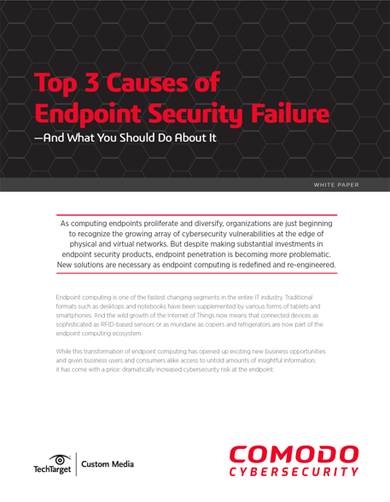 Top 3 causes of endpoint security failure