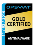 Best Antimalware Gold Certificate Award