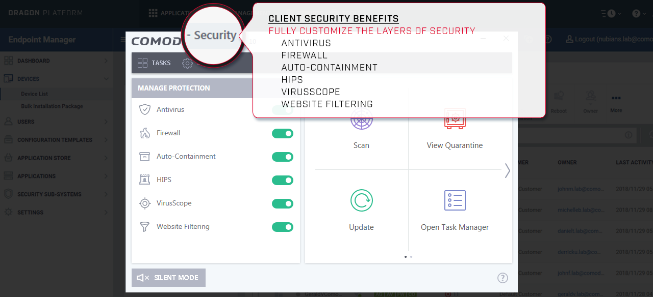Client Security Benefits