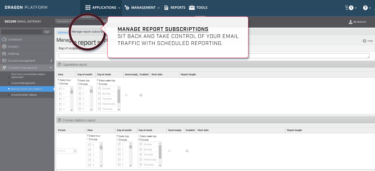 Manage Reports