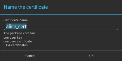 Import your Comodo Personal Authentication Cert with Android Devices