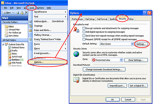 Corporate Email Certificates Setup for Microsoft Outlook